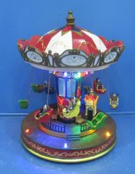 """12""""LED Rotating Ferris Wheel with Movement and Eight Songs Music for Christmas as Gift"""