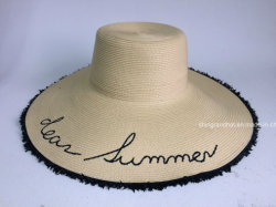 Embroidery PP Braid Fashion Hat