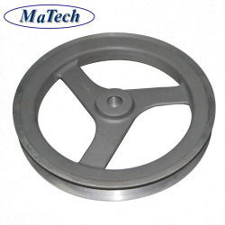 Gravity Casting of Aluminum Parts Foundry Alsi7mg T6 Aluminum for Pulley