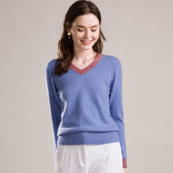 0dacf3e717b95 New Fashion Women's 100% Pure Cashmere Sweater, Knitted Clothing V Neck  Pullover Wholesale