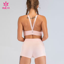 OEM 2 Piece High Waist Women Sports Bra Shorts Set
