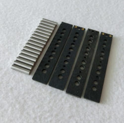 Black Flatwork Jazz Bass Pickup Kits with AlNiCo Magnet Rods