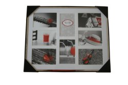 Wall Deco Metal Photo Frame 8 Opening with Matt