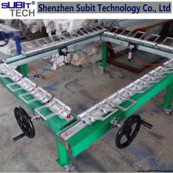 Worm and Gear Screen Stretching Machine Pneumatic Screen Strectching Machine