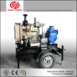 30kw 6inch Diesel Engine Driven Self Priming Pump for Sewage Water Handling with Outflow 200m3/H