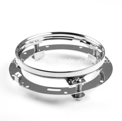 """7 Inch Round Chrome Headlight Mounting Brackets Ring for 7"""" LED Projector Headlight for Motorcycle Harley Davidson Lj"""
