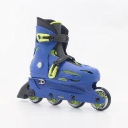 Blue Adjustable Kids Inline Skates En13843: 2009