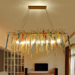 China handmade glass chandelier handmade glass chandelier american vintage wrought iron industrial handmade tree branch crystal chandelier aloadofball Images