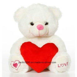 Custom Valentine's Bear with Red Heart for Gift