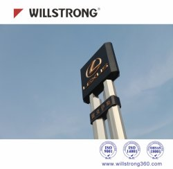 Advertising Displays Aluminum Composite Panel 2000mm Pet Coating