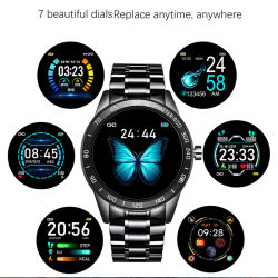 2020 New Business Android Smart Bracelet Watch for Men Fitness Sport Tracker Heart Rate Blood Pressure