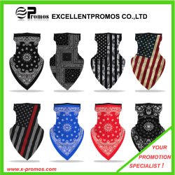 Printed Outdoor Cycling Hanging Mask, Sports Mask Ice Silk Neck Cover Hang Ear Triangle Face Mask Tube Scarf/ Face Bandana Ear Loops Stylish Neck Gaiters