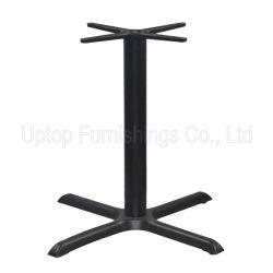 (SP-MTL119) Wholesale Cross Black Cast Iron Restaurant Table Leg