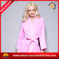 b94d7d7d4d Wholesale Polyester Solid-Colored Coral Fleece Hooded Bathrobe