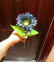 Synthetic Flowers Artificial Sun Flowers Plastic Sun Flowers Fake Sun Flowers for Landscape Decoration