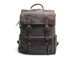 Factory Without Any MOQ Hiking Designer Leather Men Canvas Bag