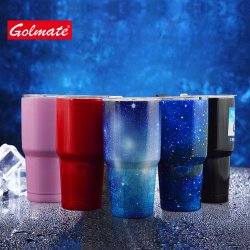 16oz Straight Double Wall Stainless Steel Keep Hot Drink Cups Tumbler