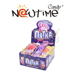 NTD19008 Sour Powder with Mix Colorful Foot Lollipop in Box