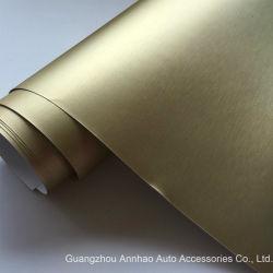 China Brushed Gold Car Wrap Vinyl, Brushed Gold Car Wrap