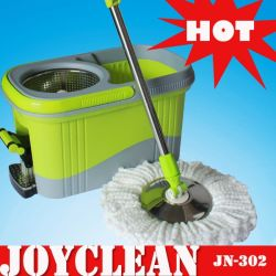 Joyclean Plastic Bucket, Microfiber Towel, Stainless Steel Pole Cleaning Product (JN-302)