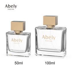 Factory Supply Bespoke Spray Perfume Glass Bottle 50ml 100ml Fragrance Glass Bottle with Zamac Cap