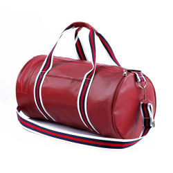 Long Trap Leather Gym Duffle Bag Men Sports Bag