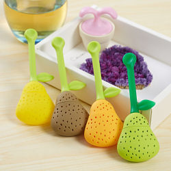 Hot Pear Shaped Silicone Tea Infusers Bag Strainer