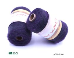 Manufacturer Hairy Napped Yarn with Gradient Colors Rainbow Thread Fine Sport Baby 4 Ply Ly-A380