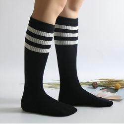 04ced278c Teen Girl Lady Women Fashion Sexy Anti Slip Knitting Cotton Socktube Sock  Pure Color Factory Custom