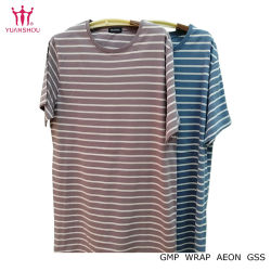Customized Knitted Cotton Short Sleeve/Sport/Printed/Round Neck/Striped/Plain T-Shirts Men/Women's Striped Apparel From Group Brand