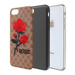 3D Embroidered Flower PU Leather Phone Case for Huawei Mate 10