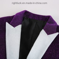 Fashion Shinning Knit Fabric Men`S Sport Blazer Jacket From China Garment Factory