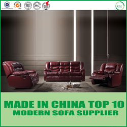 Lazy Boy Home Theater Mahogany Leather Recliner Sofa