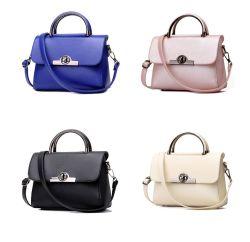 Hot Selling Fashion Colorful PU Leather Women Handbags