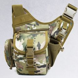 Outdoor Shoulder Bag Fishing Army Camouflage Backpack Slingshot Bag