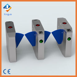 China Factory Half Height Prestige Security Bidirectional Flap Barrier Gate Automation Turnstile RFID Door Entry System