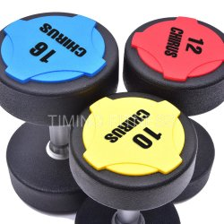 Sports Commercial Fitness Gym Equipment TPU PU Urethane Dumbbell