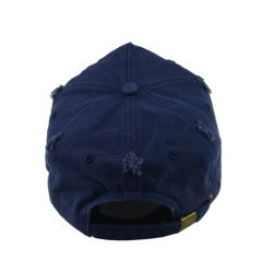Custom Blue 6 Panels Sports Hat Cotton Washed Promotional Cap Unstructured Baseball Hat