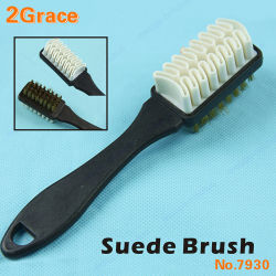 Professional Quality NYLON SUEDE//NUBUCK BRUSH CLEANER WITH HANDLE White