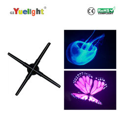2019 Newest Four-Leaf 3D Holographic Projection LED Advertising Holographic Projector Light
