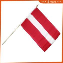 Custom Wholesale Latvia Hand Held Flag with Best Price