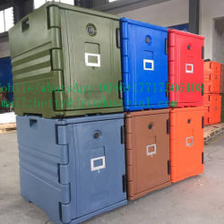 Wholesale Food Grade 30L, 40L, 50L Ice Cooler Box, Insulated Ice Box with Wheels