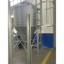 Galvanized Steel Pig Feed Silo/Metal Silo for Feed Storage