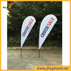 Outdoor Exbition Fiberglass Portable Beach Flag/Flying Flag Pole