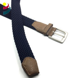 Men Fabric Braided Stretch Strap Cross Buckle Casual Golf Belt Waistband Sport Elastic Belt for Male