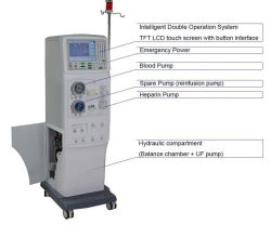 Double Pump LCD Touch Screen Dialysis Machine