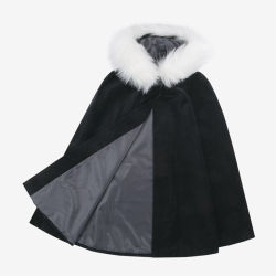 2021 Latest Customised Style Fashion Brand Winter Warm Navy Wool Cape for Baby Girls