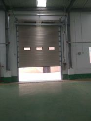 Stainless Steel Sandwich Panel Auto Control Overhead Sectional Garage Door  For Warehouse
