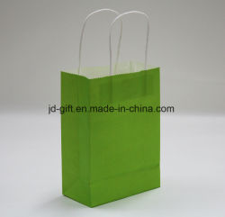 Color Kraft Paper Gift Bag with Twisted Handle