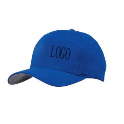 Long Bill Canvas 6 Panel Baseball Cap Hard Hat